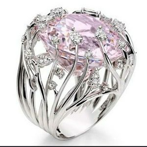 .925 Sterling Pink Sapphire Statement Ring